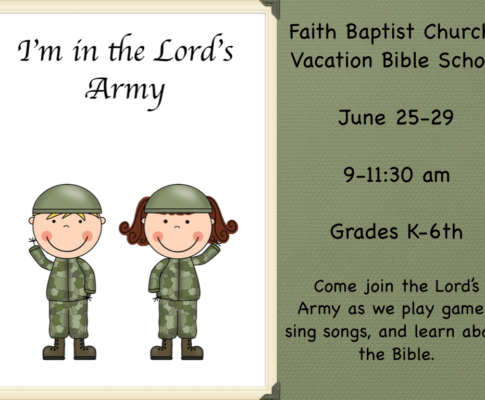 VBS June 25th -29th